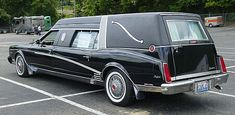 Bayliff Packard Hearse, based on an 80s Buick Riviera