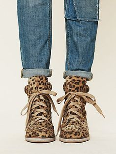 Leo Wedge leopard Sneaker