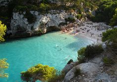 Cala Macarelleta in very colorful & beautiful Menorca, Spain Vacation Places, Dream Vacations, Vacation Spots, Places To Travel, Places To See, Travel Destinations, Vacation Wishes, Menorca, Places Around The World