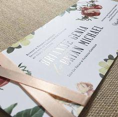 Black Foil Invitation • Custom Wedding Invitation • Formal Wedding Invitation • Custom Design • Vintage Floral Wedding Invitation • Satin Wrap Wedding Invitation • Wedding Invitation Design