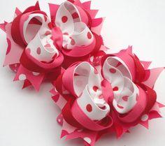 pink and red polka dots bows...