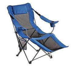 Folding Camp chair with footrest #OutdoorSpiritFoldingLounger