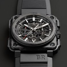 Bell & Ross BR-X1 SKELETON CHRONOGRAPH - CARBONE FORGE.More Product design here.