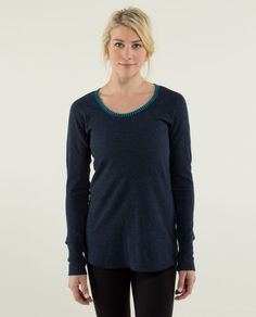 lulu lemon Open Your Heart Long Sleeve top. <3 love this!