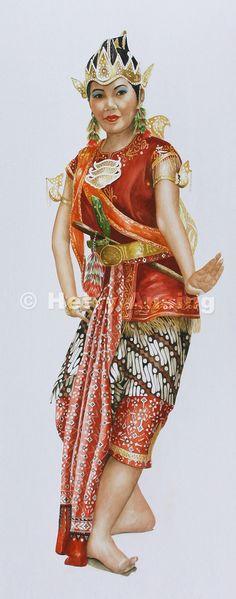 Court dancer of Java
