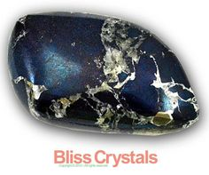 Chatoyant 150 Carat Covellite Pyrite Palm Stone Crystal Healing Tumbled Reiki | eBay