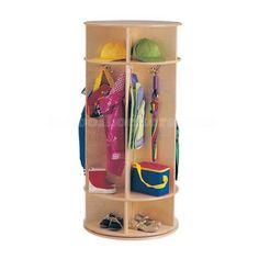Jonti-Craft Revolving Wooden Standing Coat Rack - Furniture - Coat Hangers - Measures x inches - Fully assembled Toy Storage, Storage Spaces, Craft Storage, Storage Organization, Preschool Cubbies, Kids Locker, Standing Coat Rack, Kids Coats, Quality Furniture
