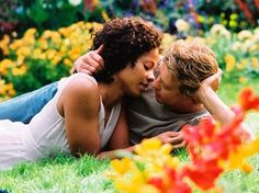 Something New with Sanaa Lathan and Simon Baker. Love the movie, but some parts give me heartburn.  I think it's easy to forget about the basic fact that you love someone and want to be with him, when you focus on all the mess around around you.