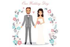 Cute Wedding Couples - Illustrations