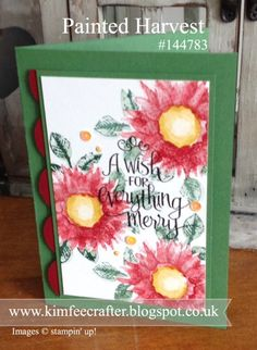 Hello There, I have been playing with a Brand New Autumn stamp set, That's not just for Autumn or Sunflowers either,  This set was give...