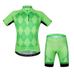 aa5135bcd WOSAWE Brand New Cool Cycling Jersey Set Short Sleeve Sportswear Polyester  Summer Bike Cycling Clothing Bicycle