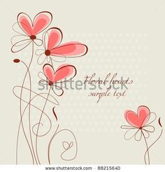 stock vector : Vector floral hearts, ornament for wedding stationery