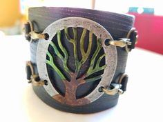 Check out this item in my Etsy shop https://www.etsy.com/listing/485210811/leather-cuff-bracelet-tree-of-life