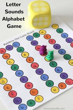 Letter Sounds Alphabet Game - Mom Inspired Life. Teaching kids the alphabet and letter sounds with a fun board game!