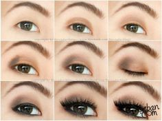asian eye makeup step by step