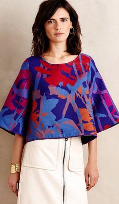 Painted Bough Swing Blouse