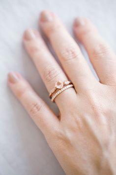 LC Lauren Conrad 10k Rose Gold Morganite & 1/10 Carat T.W. Diamond Ring