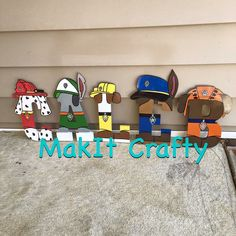 Paw patrol wooden letters. Oder your character letters now on www.facebook.com/makitcrafty