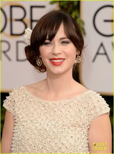 Zooey Deschanel - Golden Globes 2014 Red Carpet | zooey deschanel golden globes 2014 red carpet 07 - Photo