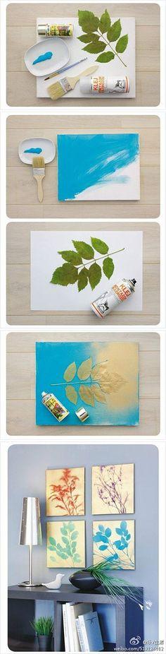 DIY nature prints
