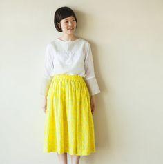 おとなギャザースカートの製図・型紙と作り方 | nunocoto fabric