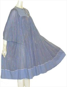 My husband HATES when I wear things like this! SO comfy <3 Gauzy Cotton 70s Boho Dress