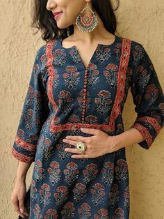 Young Women clothing - Women clothing Casual Plus Size - Women clothing Outfits Chic - Women clothing Casual Blouses Printed Kurti Designs, Silk Kurti Designs, Salwar Neck Designs, Churidar Designs, Kurta Neck Design, Kurta Designs Women, Kurti Designs Party Wear, Sleeves Designs For Dresses, Neck Designs For Suits