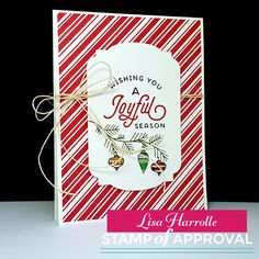 Embellish My World: Stamp of Approval - Candy Cane Lane Blog Hop! Handmade Christmas Card made with the Candy Cane Lane Stamp of Approval Collection  www.cpstampofapproval.com