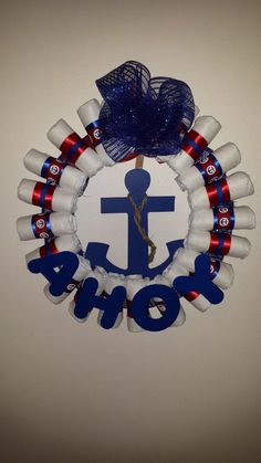 Hey, I found this really awesome Etsy listing at https://www.etsy.com/listing/188950351/nautical-baby-diaper-wreath-ahoy-its-a