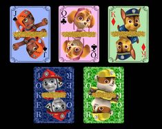 Paw Patrol Playing Cards Paw Patrol, Some Fun, Party Favors, Vibrant Colors, Card Stock, Playing Cards, Bright Color Schemes, Playing Card Games, Sweet Jars
