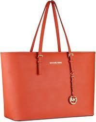 Michael Kors Saffiano Medium Travel Tote Mandarin - http://handbags.apparelique.com/handbags/michael-kors-saffiano-medium-travel-tote-mandarin/