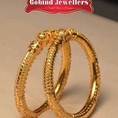 Exclusive Hallmarked Gold Collection from Gobind Jewellers - March 24 2019 at Gold Bangles Design, Gold Earrings Designs, Gold Jewellery Design, Necklace Designs, Ring Designs, Gold Wedding Jewelry, Gold Jewelry, Unique Jewelry, India Jewelry