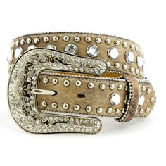 Blazin' Roxx by Nocona Faux Hair Rhinestone Belt