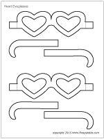 Heart eyeglasses template