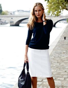 simple and classic -- navy and white