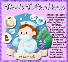 Happy Nurses Day, All Nurses, Name Cards, Thank You Cards, Beautiful Nurse, Give Thanks, Friends In Love, Card Sizes, First Love