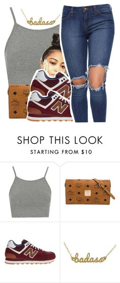 """7/18/16💕"" by lookatimani ❤ liked on Polyvore featuring Topshop, MCM, New Balance and Kris Nations"