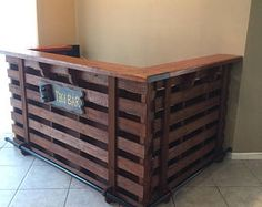 Pallet Bar  Un-Stained  Finish To Your Own Color.