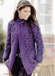 receita de casaco de trico feito a mão - Pesquisa Google