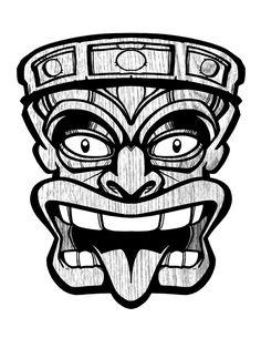 Tiki Head clip art