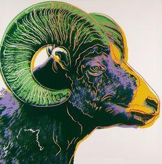 Andy Warhol, Big Horn Ram, Endangered Species, Bluegrass Edition