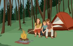 Camping is a great way to spend time outdoors with your family—canoeing...