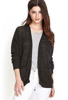 Textured Knit Cardigan | FOREVER21 - 2000057139