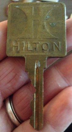 Vintage Brass Hilton Hotel Key - Circa 1974 - Room 504 - Free Shipping | eBay