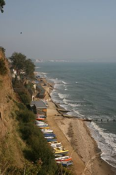 Shanklin Beach, isle of Wight  Used to take the horses here on our lessons!