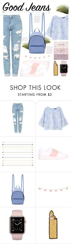 """""""Good jeans"""" by tawneerose ❤ liked on Polyvore featuring Topshop, Violeta by Mango, Valentino, STELLA McCARTNEY, ...Lost and Macon & Lesquoy"""