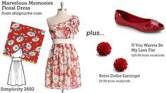 (via Make This Look: Marvelous Memories Floral Dress | The Sew Weekly - Sewing & Vintage Lifestyle)