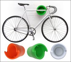 Bicycle storage by Cycloc in colors that pop. | Shared by velojoy.com