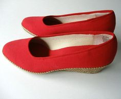 Vintage Red Espadrille by PassionFlowerVintage