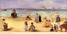 Edouard Manet - On The Beach At Boulogne